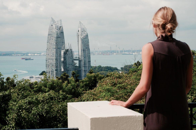 Singapore: Boven op Mount Faber Park