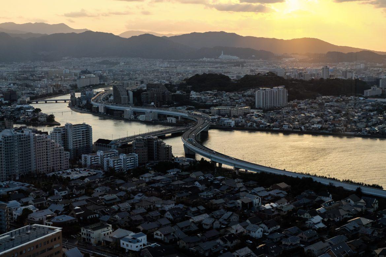 Japan: Het uitzicht vanaf Fukuoka Tower