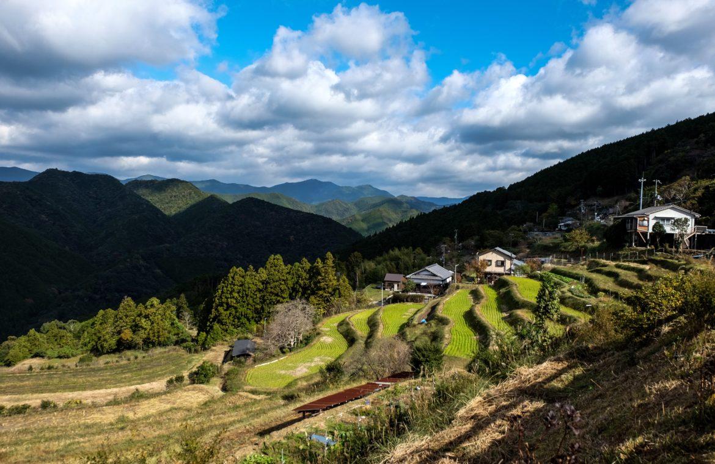 Japan: Kumano kudo track Uitzicht vanaf ons hotel