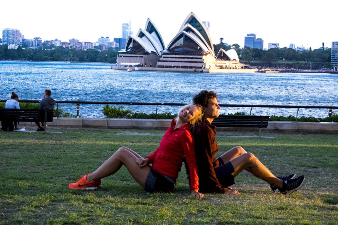 Australie: Cheesy foto's maken in Badfield Park