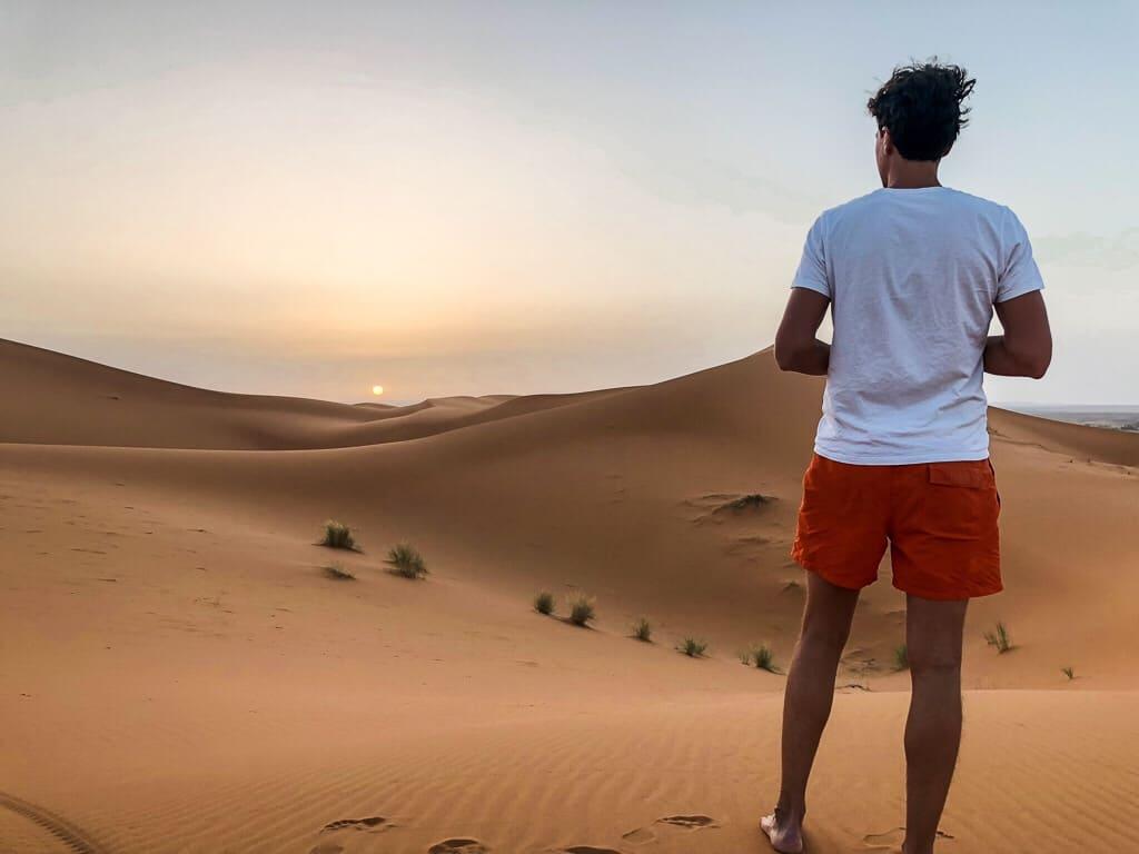 Morocco desert sunrise