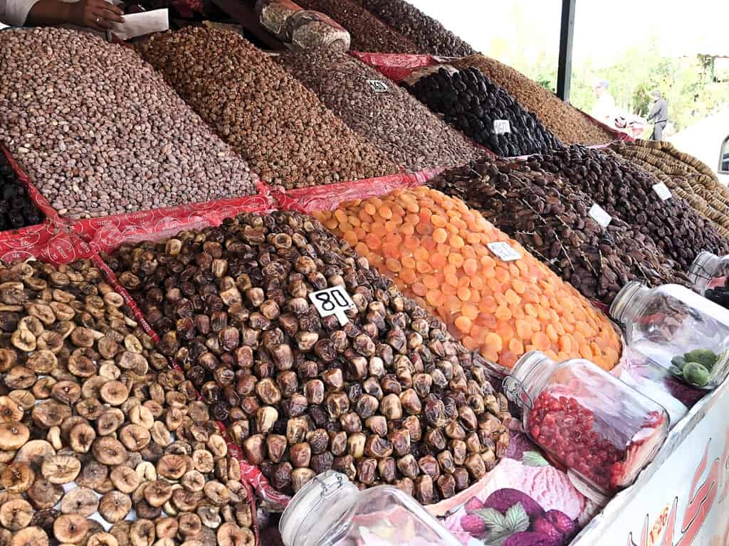 Morocco Marrakech dried fruits