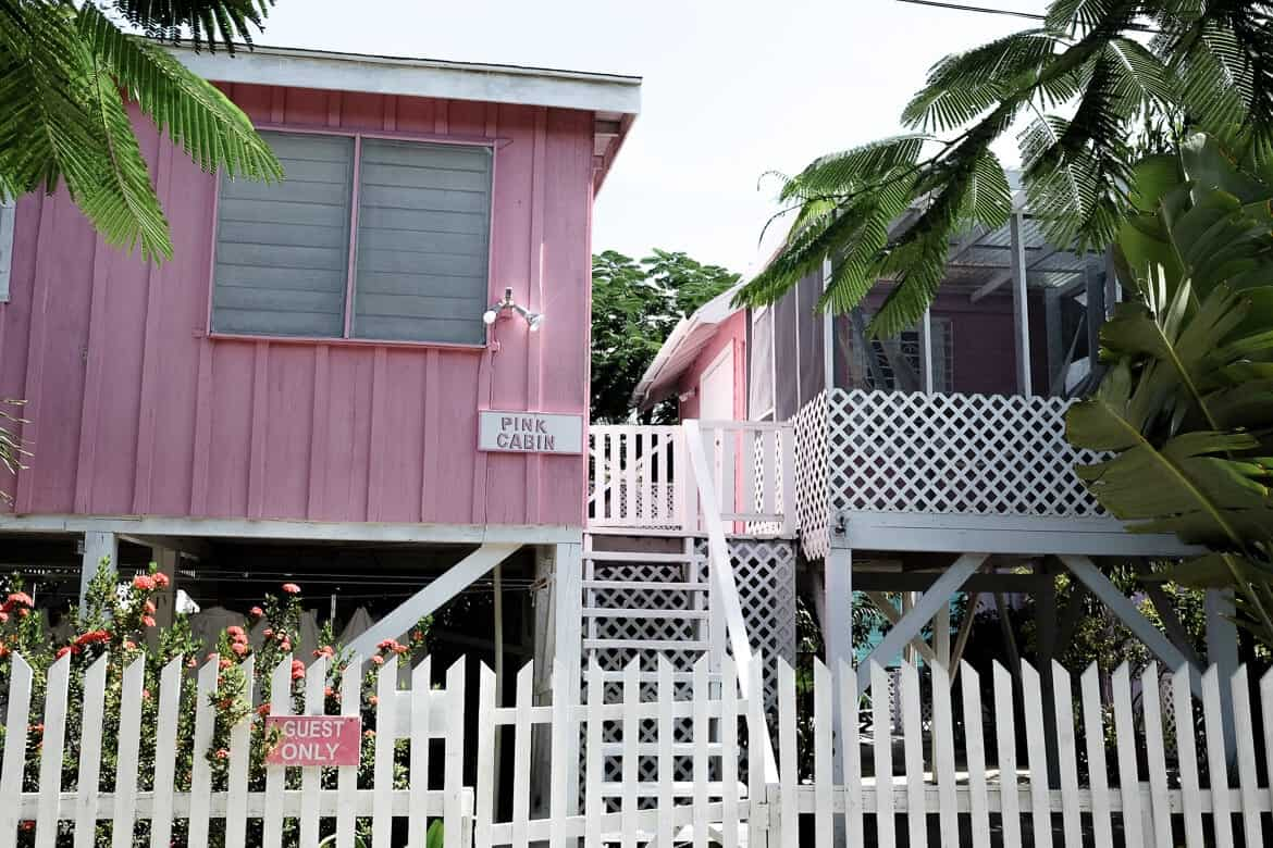 Pink houses Belize