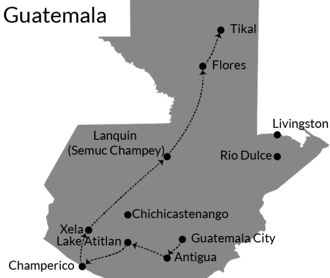 Itinerary: two or three weeks in Guatemala!