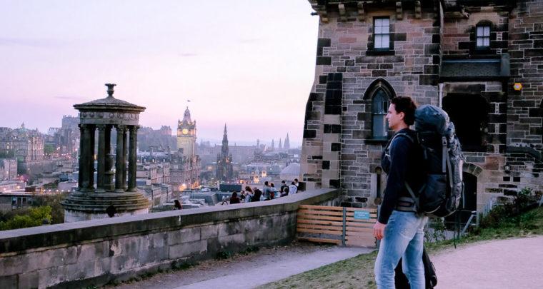 Diary: Sunny Edinburgh, start of our road trip!