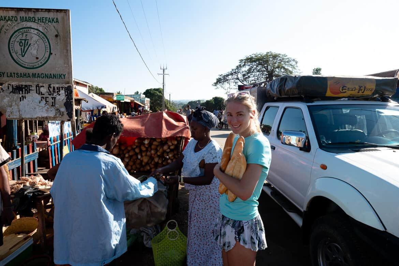 Buying bread Madagascar