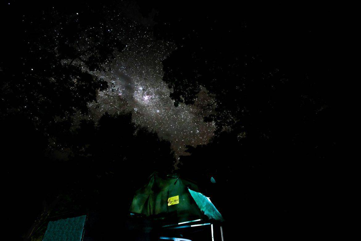 Rooftoptent Roadtrip africa by night