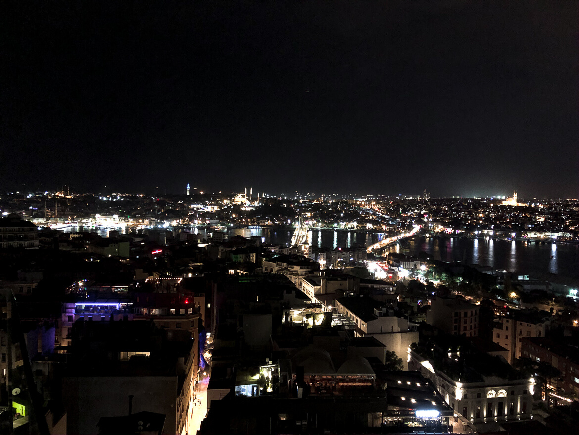 View Istanbul rooftop
