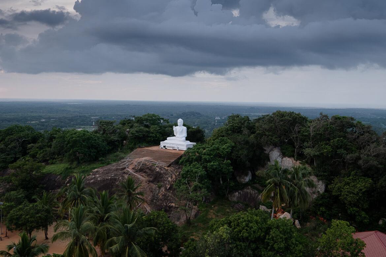 Mihintale Budhha cloudy