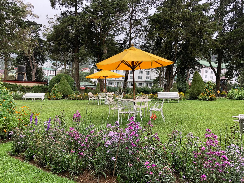 gardens of the grand hotel Nuwara Eliya