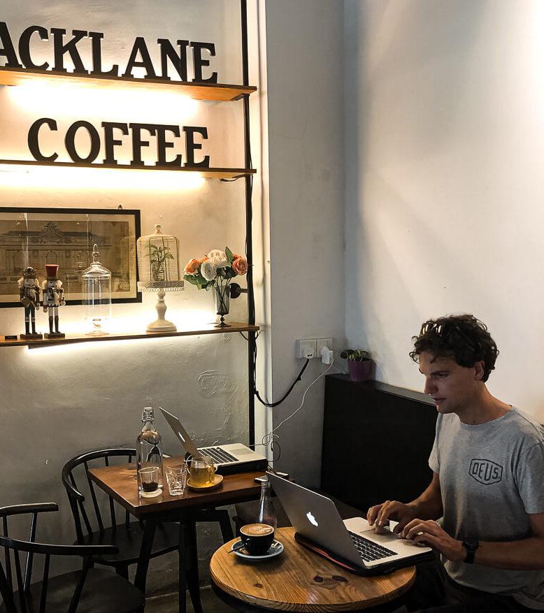Backlane coffee Melaka Malaysia