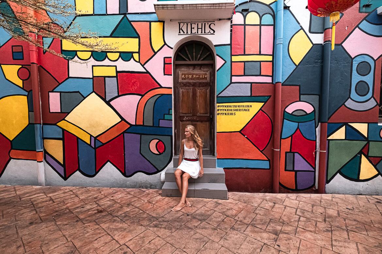 Malaysia Melaka beautiful street art and graffiti
