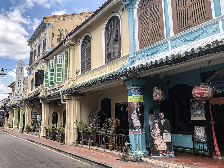 Melaka old colonial town Malaysia houses