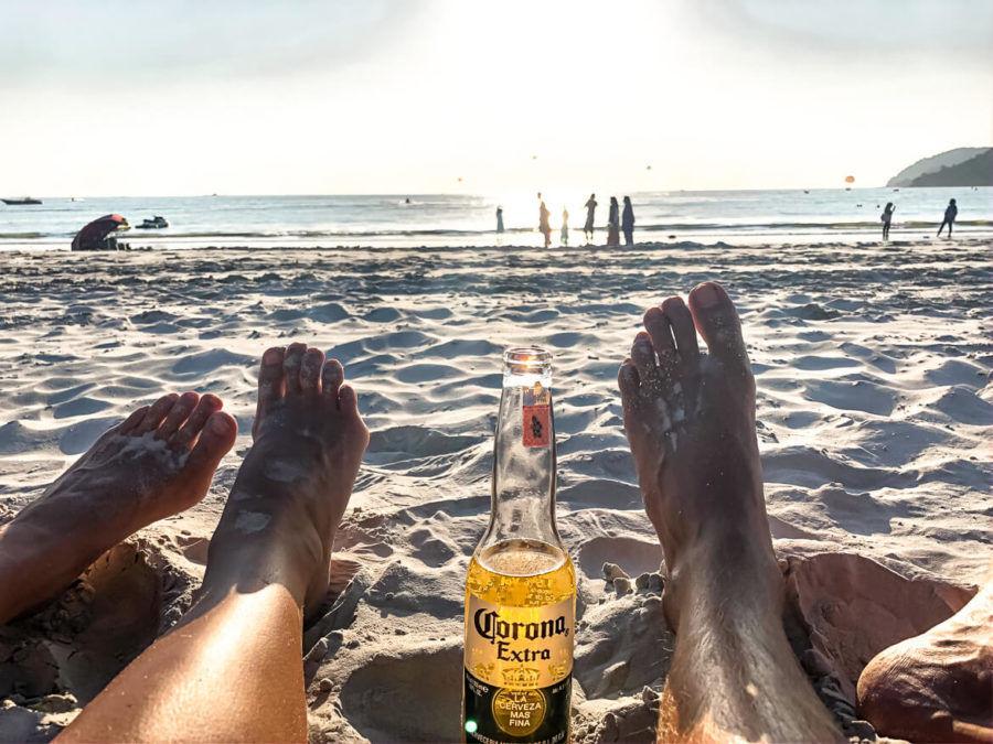 Sunset Corona on the beach