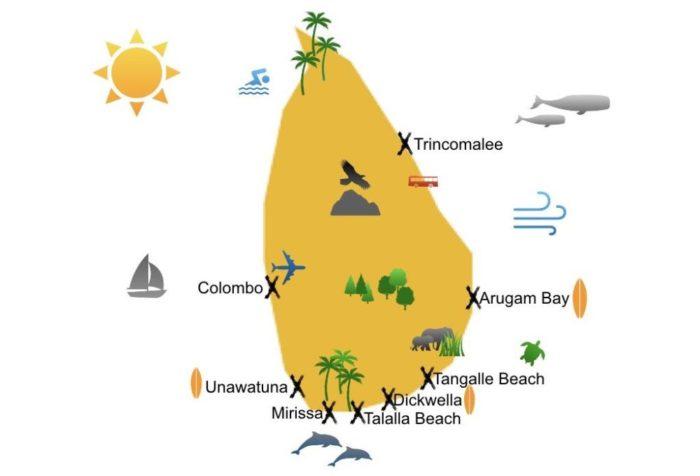 Beach of Sri Lanka map.001