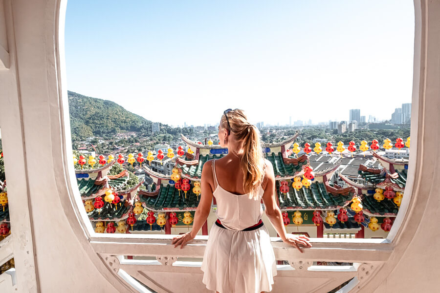 View from Kek Lok Si Temple George Town Malaysia